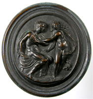 Cameo of a youth and girl