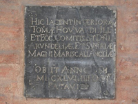 Plaque at the cathedral of Padua
