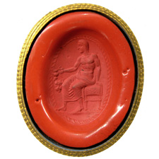 Cornelian. Seated Dioynsos