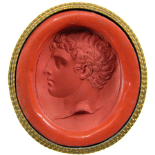 Chalcedony. Head of youth