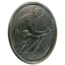 Cameo. Seated woman