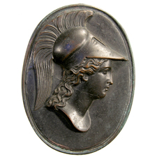 Cameo. Athena head