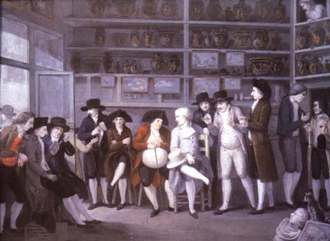 Painting of antiquary's shop
