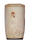 Phiale Painter 'Hermes' white lekythos