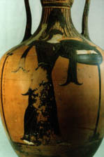 Panathenaic amphora with inscription